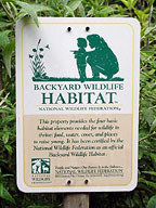 wildlife habitat sign
